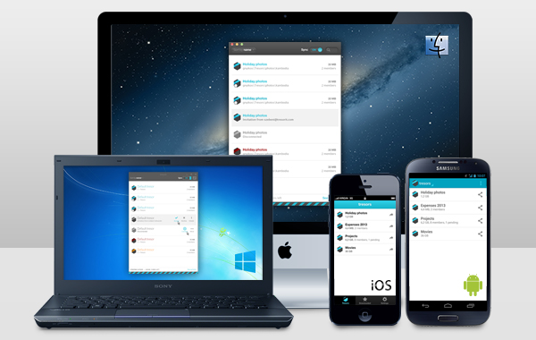 Share and sync securely on all major platforms