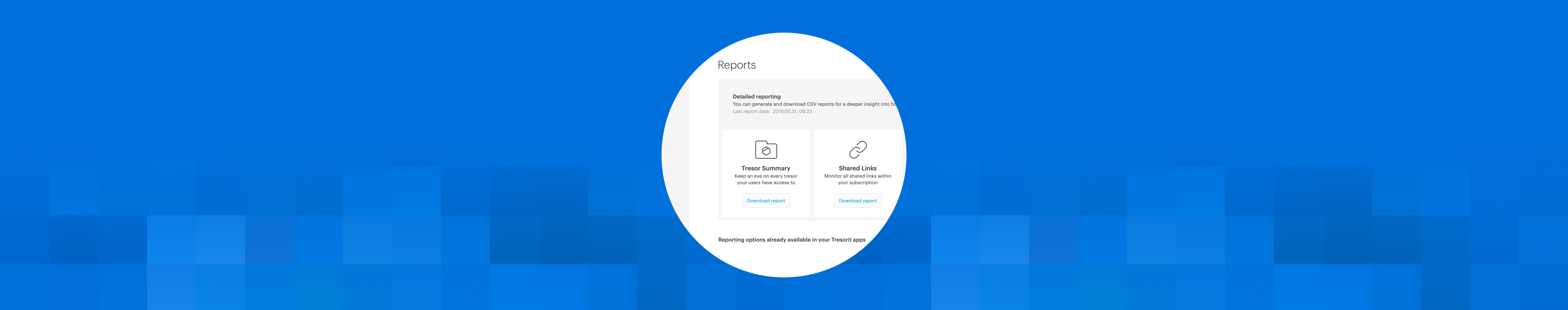 "New feature: ""Reporting"""