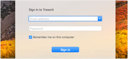 Open the Tresorit application and sign in.