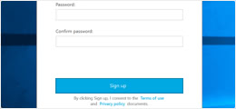 Open the Tresorit application and create your account.