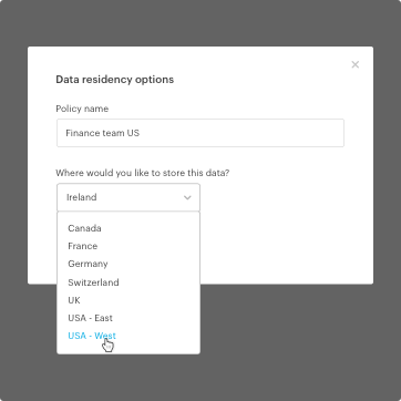 Data Residency Options