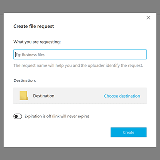 File request links